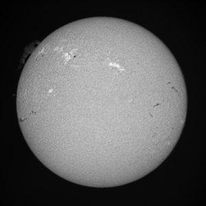 Solar disk exposure