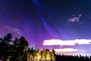 Rare blue aurora over Sweden, by Mia Stålnacke