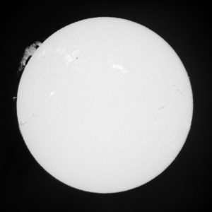 Solar prominence exposure