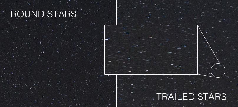 How to capture sharp stars