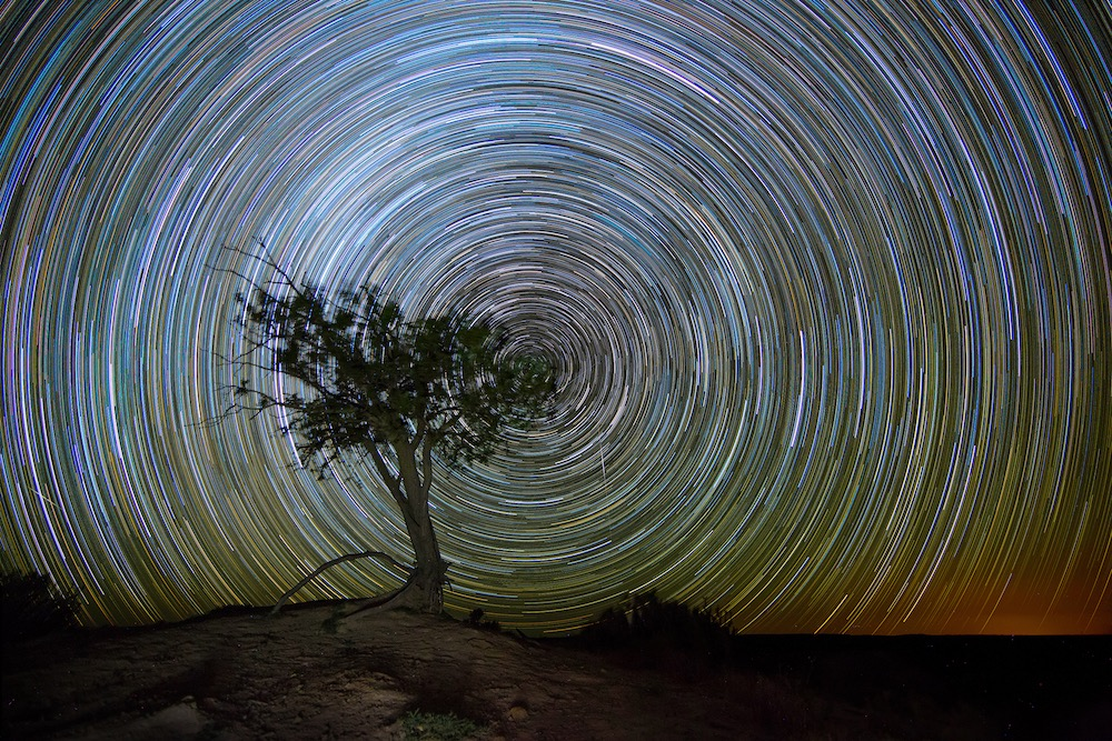 1.5 hours star trails