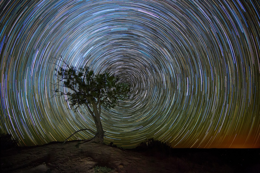 1 hour star trail