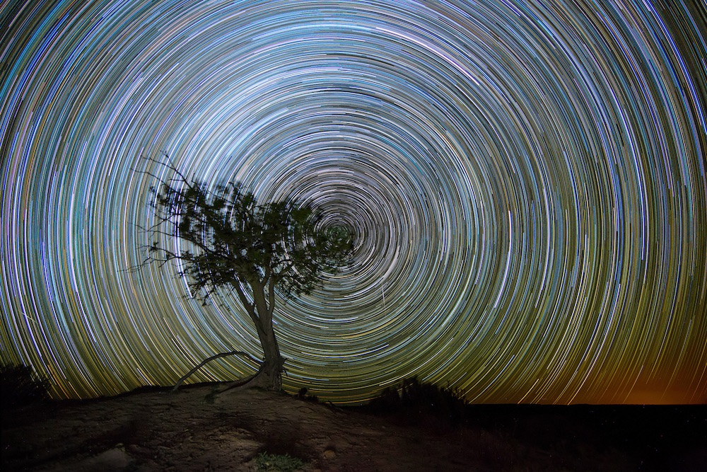 2 hours star trails