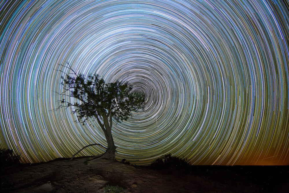 3.5 hours star trails