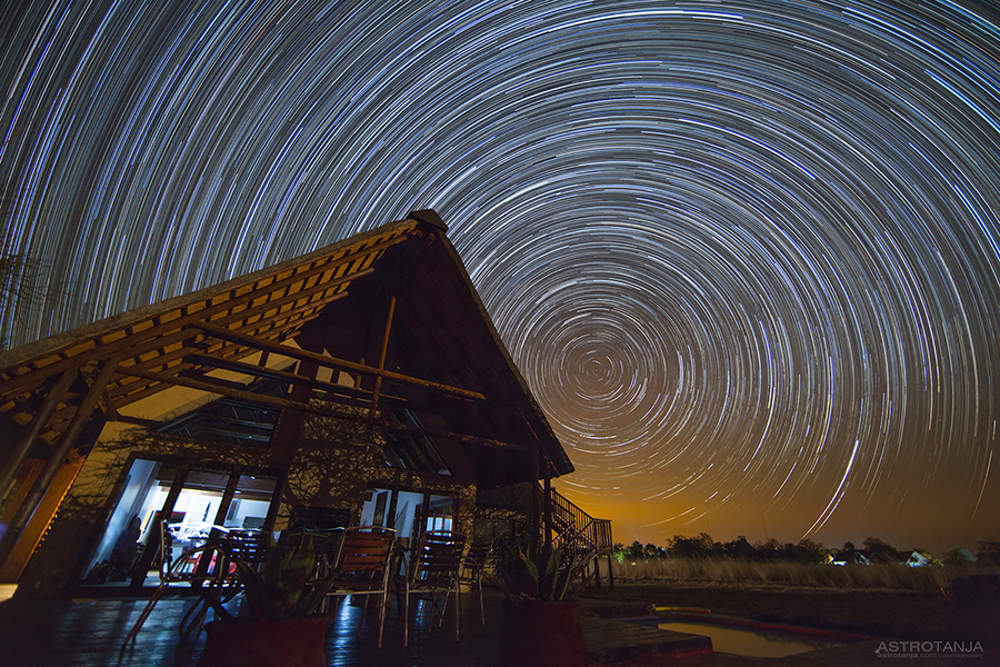 House star trails