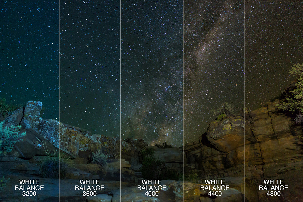 White Balance in dark skies