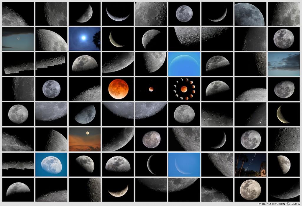 Philip Cruden moon collage