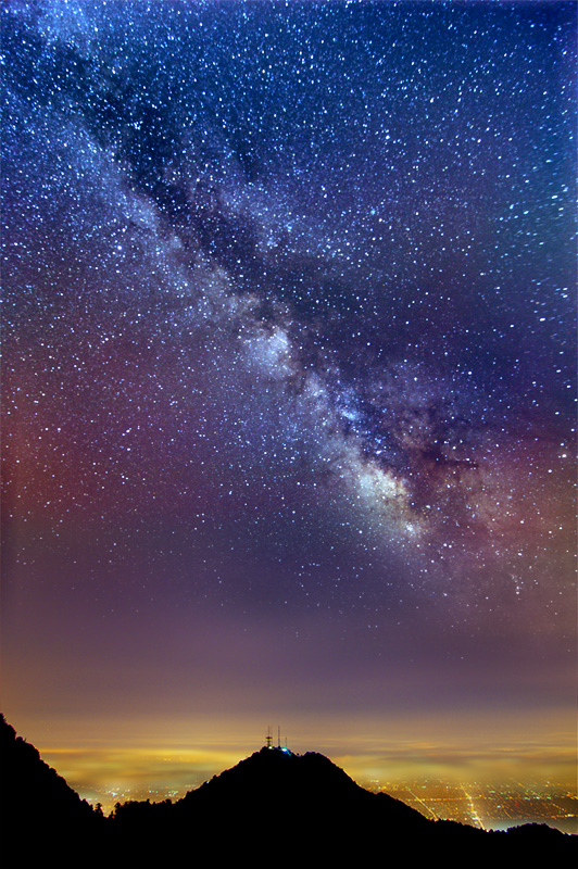 Milky Way over Los Angeles by Magnetic Lobster