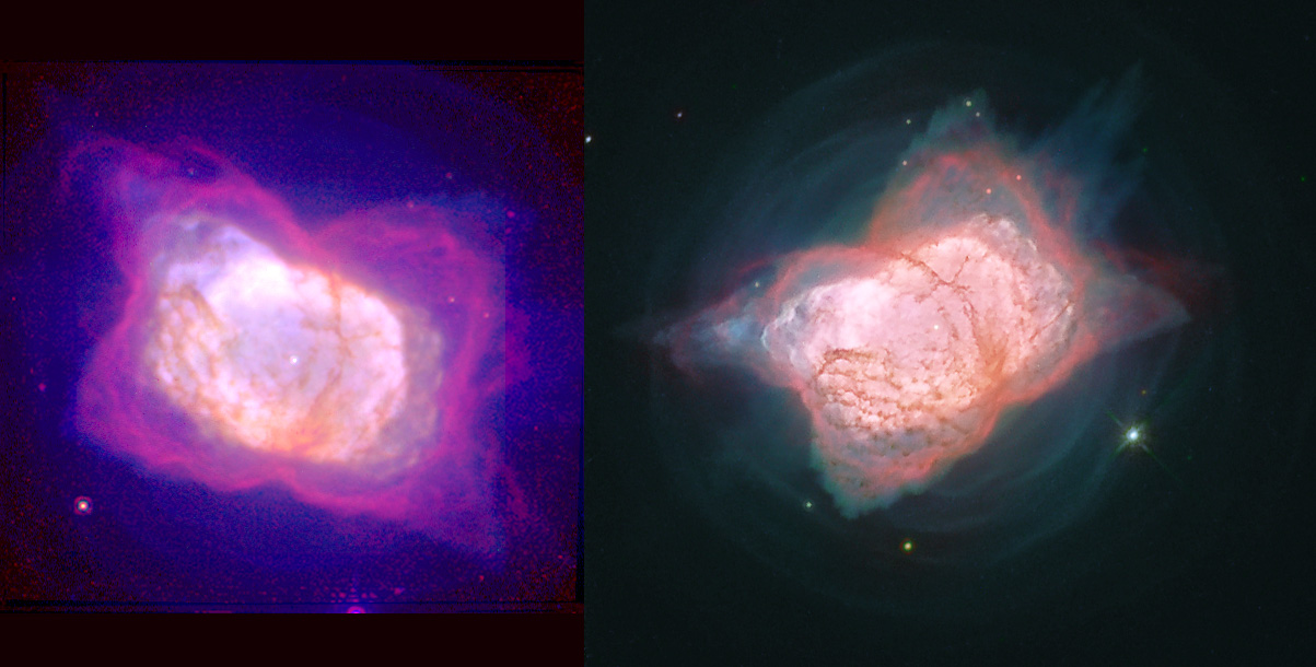 Two processing versions of NGC 7027