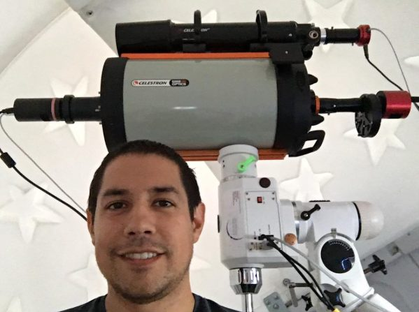 "The author with his C9.25"" with 2 separate image trains! One for planets, and one for highspeed F2 hyperstar deep space imaging."