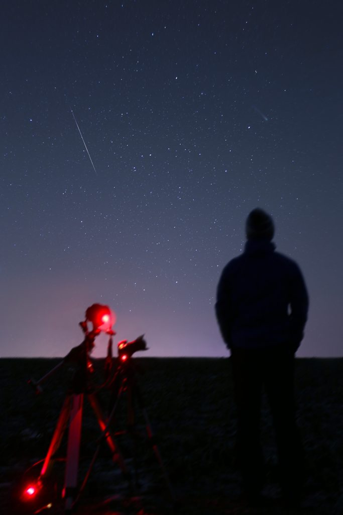 Alex Conu geminid meteor and comet lovejoy