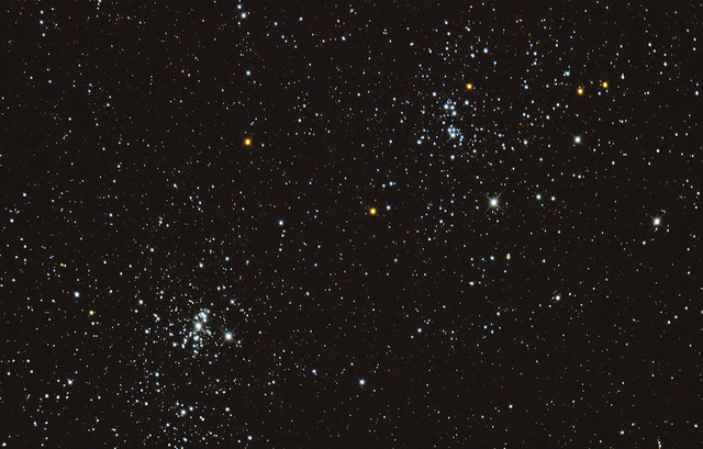 Double Cluster with Dobsonian