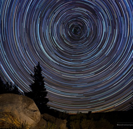 Colour in star trails