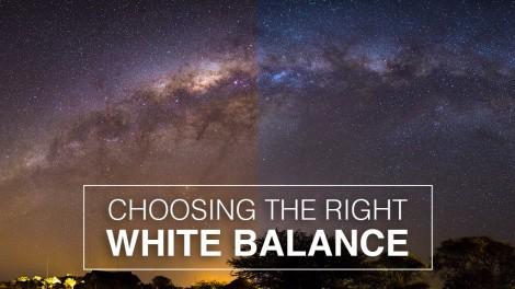 selecting White Balance