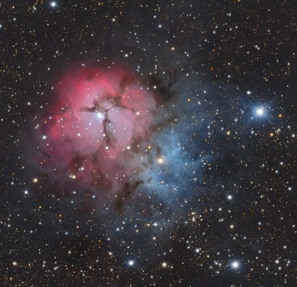 The Triffid Nebula by Dylan O'Donnell, imaged in 90 minutes and processed the same night.